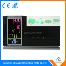 Best Quality 3D Crystal Radio Wave Bedroom Alarm Clock With Weather Station
