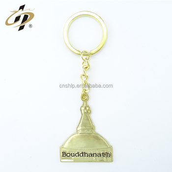 Wholesale custom zinc alloy gold hats clothings brand name logo rubber duck souvenir keychain