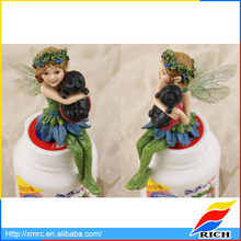 resin clay pot flower elf outdoor decoration