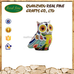 Resin animal owl toy garden home decoration statue