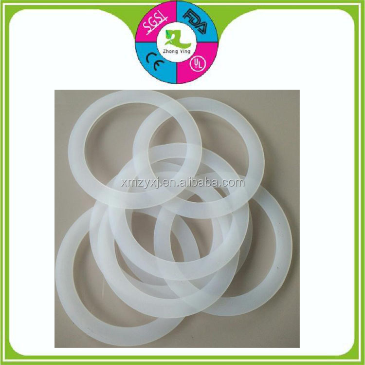 customized food-grade transparent silicone rubber flat seal gaskets