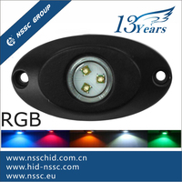Amber 9W Offroad LED Rock Light, Multifunction Led Tail Dome Light, 4X4 Car Led Side Marker Lamp
