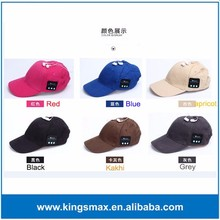 2016 New Design Softextile Bluetooth Cap Custom Baseball Cap With Bluetooth Earbuds