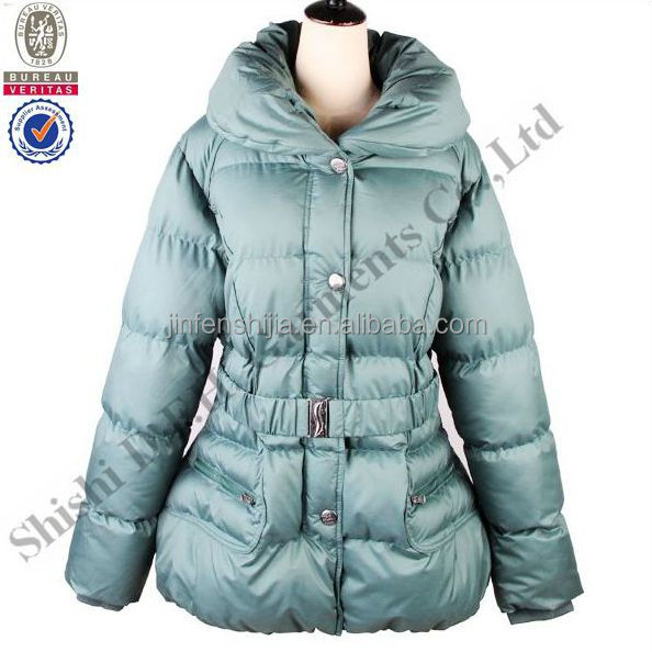 Fashion clothing 2016 women padded jacket, custom puffer jacket