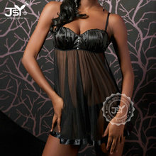 Black Grenadine Sexy Nude Sleepwear With Women Sexy Mature Sleepwear