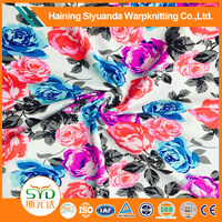 Beautiful Floral Colorful Print spandex Fabric for Nice Dress or Garment