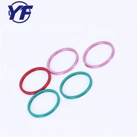Beautiful color powder coated aluminum ring gasket for earphone , cnc precision milling part