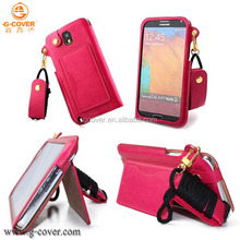 new style factory price high quality pu leather case for samsung galaxy note 3 cute case