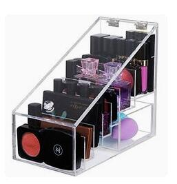 hot sale 4 layers Acrylic Makeup organizers/ cosmetic display rack