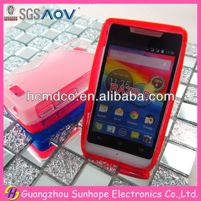 Design for Motorola RAZR D1 S line tpu cell phone case