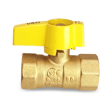 "Copper Brass Forged Cock Ball Gas Valve 1/2"" CSA"