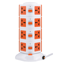 China supplier Tower shape double USB power extension socket outlet individual with switches in global