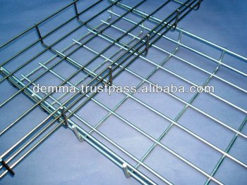 Wire Mesh Cable Tray, Electro galvanized, stainles steel...