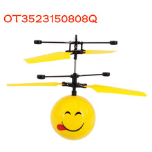 Popular rc ufo mini Inductive flying emoji face ball toy for sale OT3523150808Q