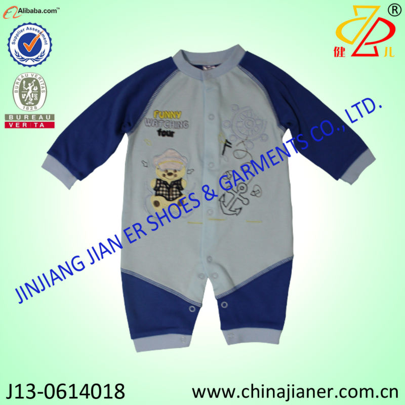 baby boy rompers embroidery with exquisite workmanship