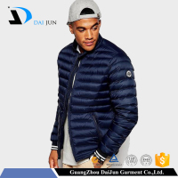 Daijun oem china factory 2016 new design winter man fashion navy blue down jacket