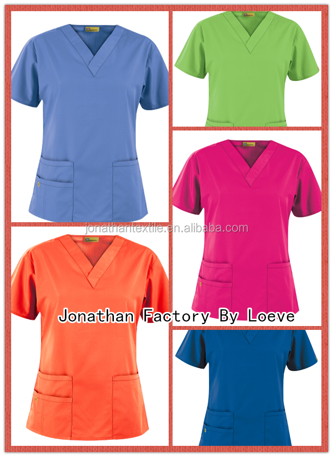 Basic design male /man medical nurse scrub top only