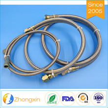 Stainless steel braided brake line assembly,colored stainless steel braided teflon hose for car wash