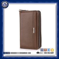 Mens Leather Wallet for Many Cards and Phone Slim Purse