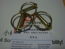 yellow zinc plated lock linch pins
