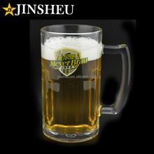 Custom Logo Printed Promotional Beer Glass Mugs with Handles
