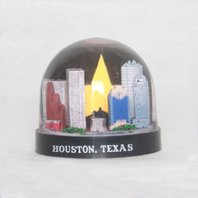 Tourist souvenir houston texas nature snow globes