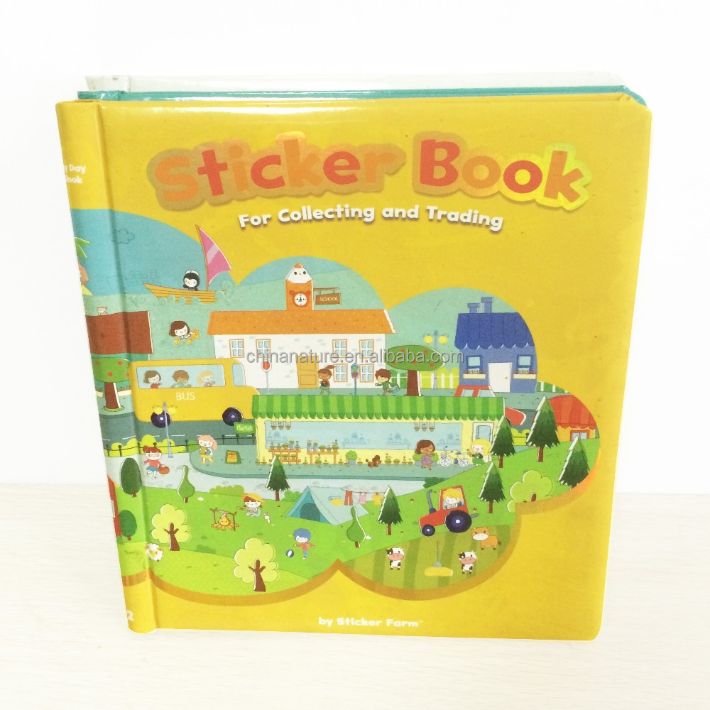 China Nature Hotsales Children Color Hardcover Sticker Book with Best Service