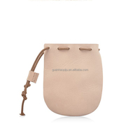 Cute Vegetable Tanned Leather Jewelry Pouch