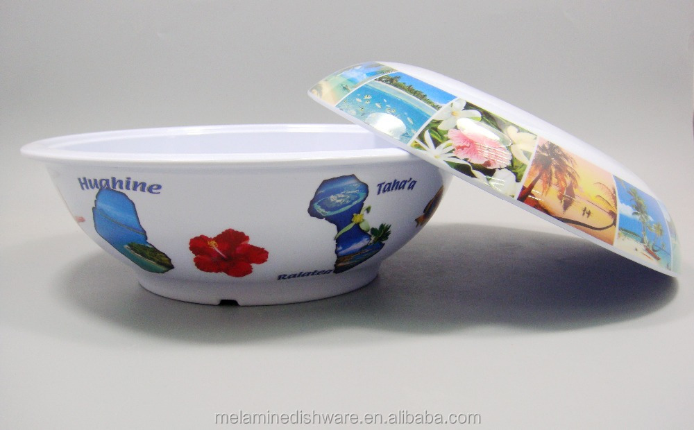 Chinese style melamine ramen bowl soup tureen with decal