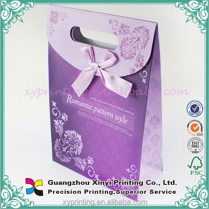 China products purple cheap gift bags paper for children