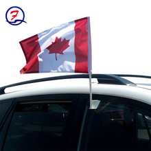 Wholesale polyester printed presidential campaign car flag plastic car window flag poles