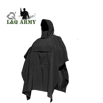 Elegant Outdoor Technical Soft-Shell Poncho
