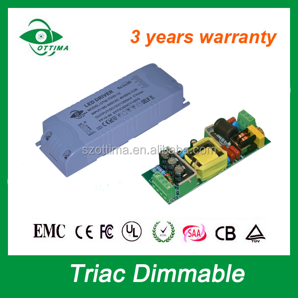 triac led driver dimmable 12w 20w 30w 40w 60w 80w led power supply 12v dc 1a 2a 4a 5a with ce etl saa