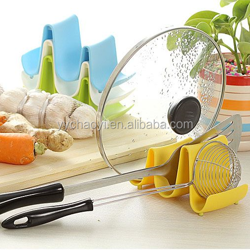 2019 Plastic Kitchen Wave Shape Pot Pan Cover Lid Shell Stand Holder Racks Ladle Spoon Storage Rack For Easy Cooking Tools