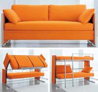 Sofa bed mechanism (Folding of drawer)