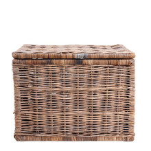 2017 Hot sales European style antique rectangle wicker basket with lid