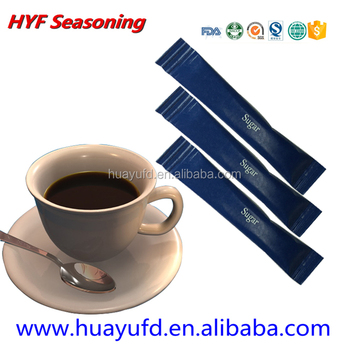 3g blue packed coffee sugar sachet stick for cafes(Video Show)