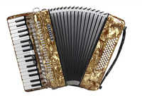 Musical Instrument J.MEISTER 34 keys 60 bass MVB1308B Germany import reed professional accordion for adolescent adult beginners