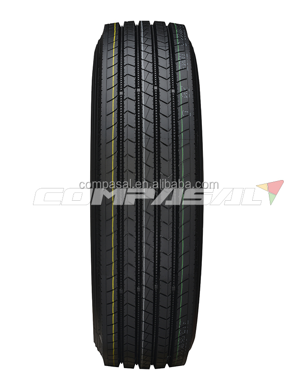 Wholesale radial truck tire COMPASAL brand from China 11R22.5 14PR front tyre