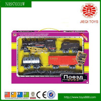 High demand products electric smoking track train set toys for kids with light