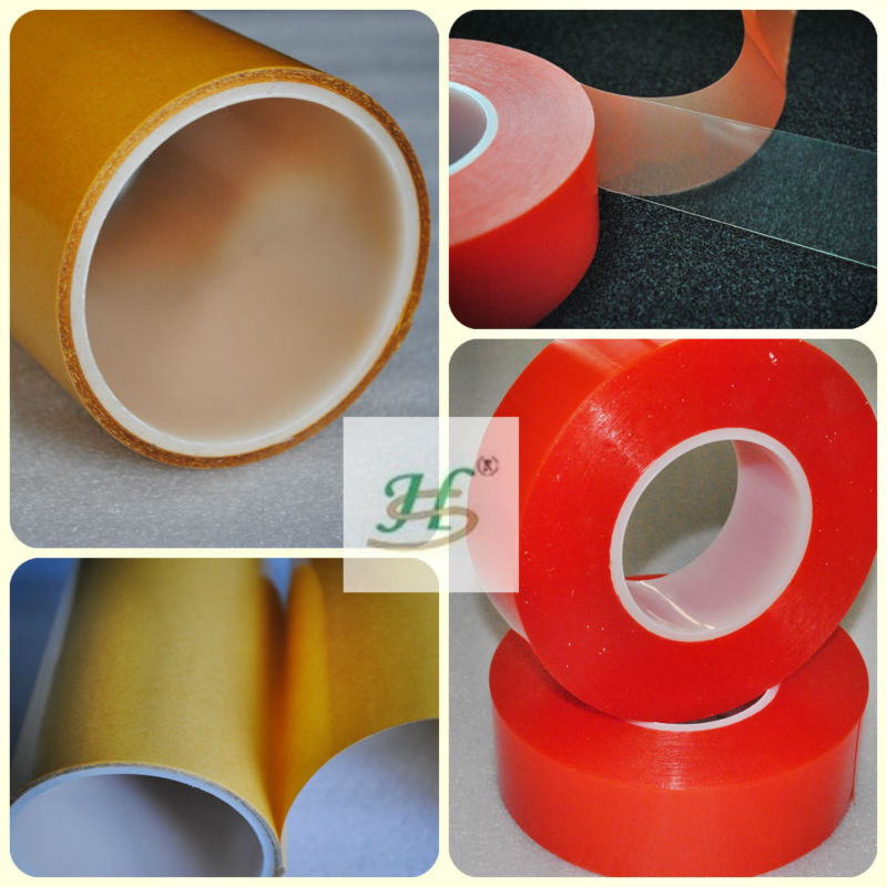 Double side PET acrylic tape coated bopp film