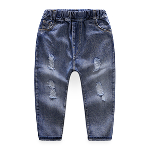 XT821 New design fashion blue toddlers pants baby jeans wholesale