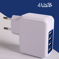 High Quality 4 Port 2.1A Quickly Adapter, Universal EU US Plug Portable USB Travel Wall Charger