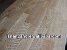White Brushed Oak 3-layer 3-strips Engineered Wood Flooring