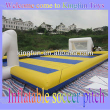 0.6MM pvc tarpaulin inflatable water soccer field/water football court