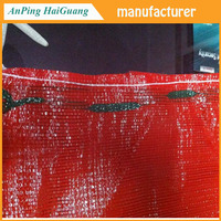 PP tubular mesh bags ,50 x 80 , orange color ,packing potato and onion