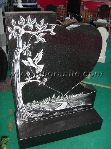 Wholesale Beautiful Design Granite Headstone with Heart Shape
