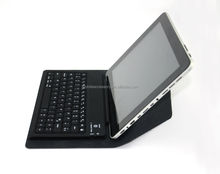New arrival! Universal transformer style bluetooth 9 inch tablet pc leather keyboard case, silicone bluetooth keyboard