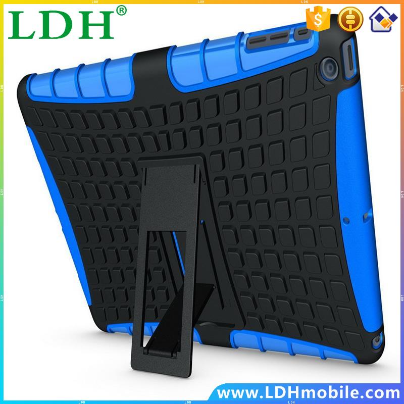 Hot Heavy Duty Rugged Kickstand Tablet Cover For iPad Air 2 Case With Skin Cover For ipad Air 2 Case Bags