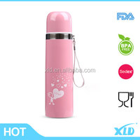 High quality stainless steel falt top vacuum flasks with attractive scenery